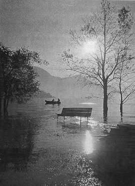 Acqua alta sul Lago Maggiore