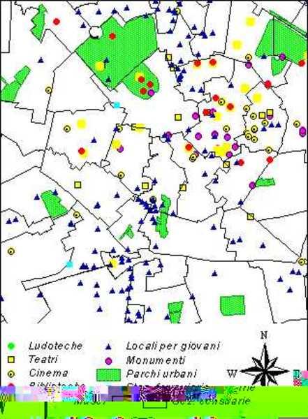 Censimento dei servizi ricreativi in zona centrale della città di Milano e accessibilità ferroviaria